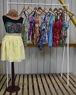 Job Lot X10 Vintage Womens Floral Swimsuits, A Range Of Styles And Colours. (95)