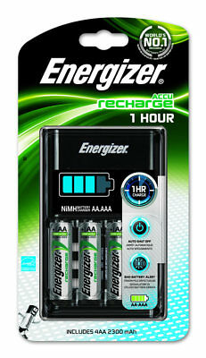 Energizer 1 Hour AA/AAA Charger with 4 x AA 2300 mAh Rechargeable Batteries