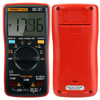 DM700 9999 Counts Auto Pocket Mini Portable Ranging Digital Multimeter Tester