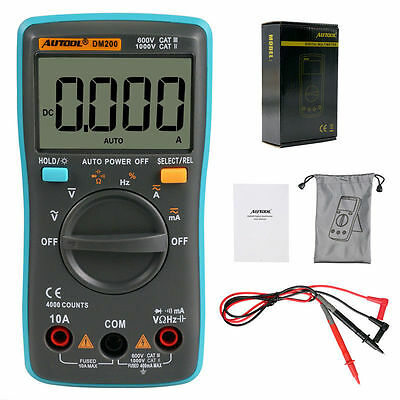 DM200 4000 Counts Pocket Mini Portable Auto Ranging Digital Multimeter Tester