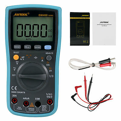 Autool DM400 Automatic/Manual Large LCD Screen Display AC/DC Digital Multimeter