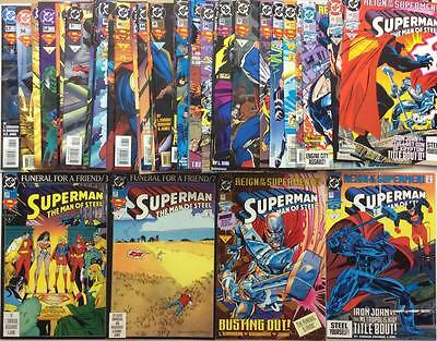 Superman Man of Steel #20 to #57 complete run (DC 1993) 38 x issues