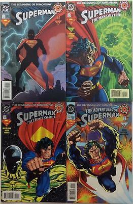 Superman #0, Action comics #0, Adventures of #0, Man of Steel #0. (4 x issues)