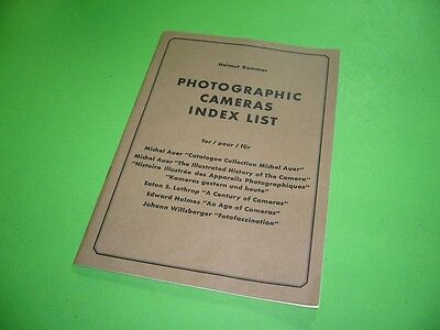 308KF1 Helmut Kummer PHOTOGRAPHIC CAMERAS INDEX LIST. 1976
