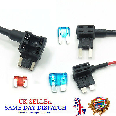 Piggy Back Fuse Blade Holder + FUSE Tap Add A Circuit 12V Car Motor Boat Van amp