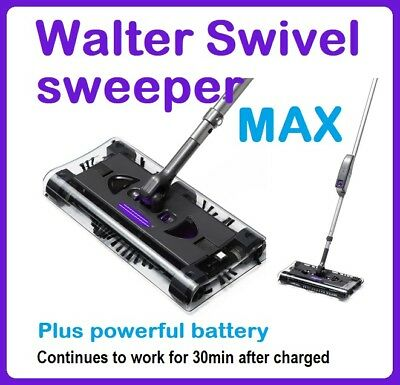 New Walter Swivel Sweeper MAX Cordless Floor Cleaner with Powerful Battery