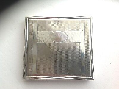 Kraft Alpacca cigarette case silver plate German.