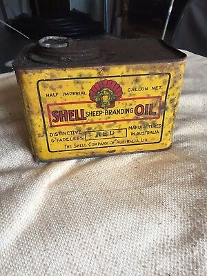 vintage shell oil  tin very rare one