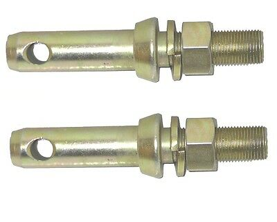 2 X IMPLEMENT MOUNTING PINS CAT 2 Tractor Pin 3 Point Linkage Bolt On Lower 7/8