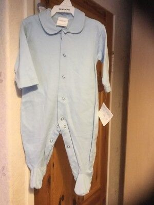 New with tags baby boys baby grow age 3-6 months colour blue from new baby .