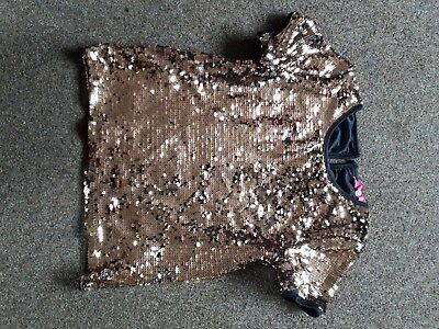 Girls gold sparkly party top 10/11 yrs