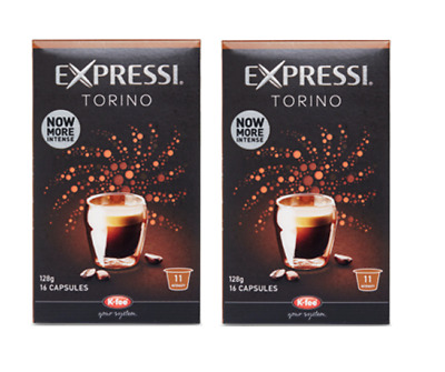 32 Capsules (2 boxes) Aldi Expressi Coffee Pods Torino - Intensity 11
