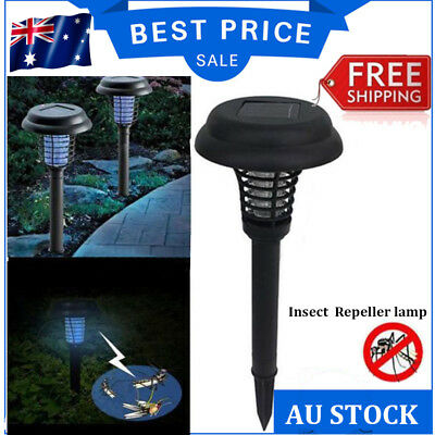 Solar UV Bug Zapper Mosquito Insect Repeller Garden Path Lawn Yard LED Light GT