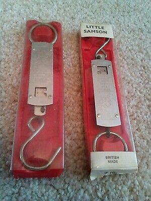 Pair of Vintage Little Samson Scales for Anglers (7lb & 14lb) fishing bundle