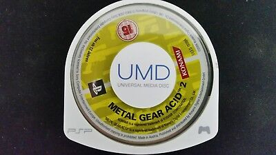 Metal Gear Acid 2 (Sony PSP, 2006) MGS Playstation Retro Rare Solid Snake Game