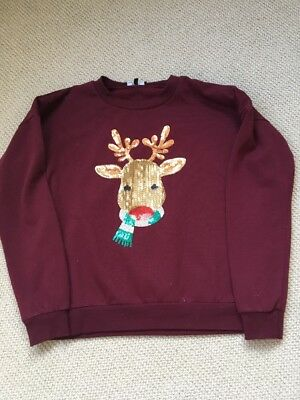 Girl's Christmas Jumper Age 14-15 New Look