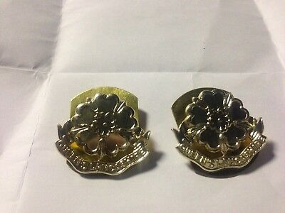 British Army Queens Lancashire Regt Collar Dogs Brand New A Pair