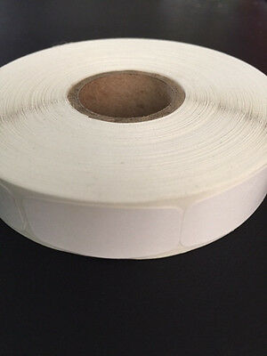 "White Blank labels; 1000 each per roll; size: 1 1/4"" x 5/8"" Stickers"
