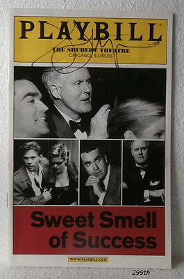 """PLAYBILL """"Sweet Smell of Success"""" Signed by John Lithgow  SHUBERT THEATRE"""