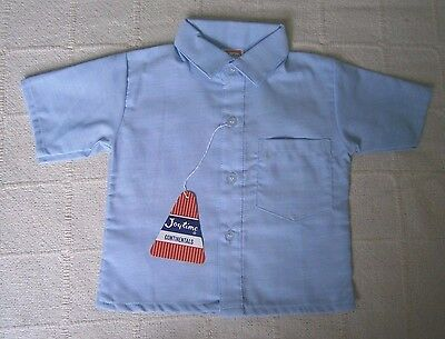 Vintage Baby Shirt - Age 1 Year - 80 cm - Pale Blue - Cotton/Poly - New