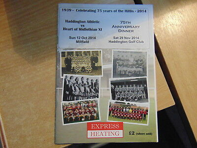 Scottish Junior Friendly 2914/15 Haddington Athletic v Hearts