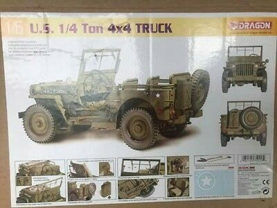 Giant WW2 Willy's jeep 1:6 model kit by DRAGON. Saving Private Ryan, Military,