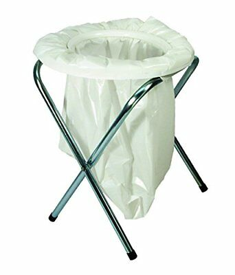 Portable Camping Toilet Folding Travel Potty Chair Seat Outdoor With 6-bags