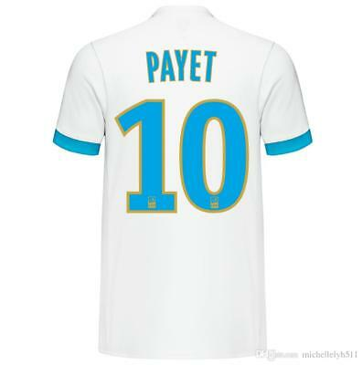 Adults S Olympique de Marseille Home Shirt 2017-18 with Payet 10 Ligue 1 M89