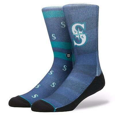 Adults UK 5.5-8 Seattle Mariners Stance Splatter Socks M101