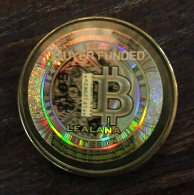 LEALANA 2013 .10 series 2 Rare Unfunded/no digital bitcoin brass- like CASASCIUS