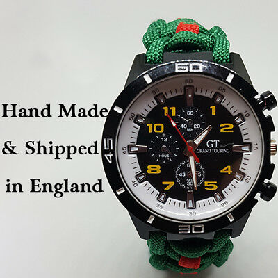 Paracord Watch with Light Infantry Colours a Great Gift
