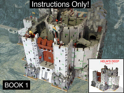 CUSTOM Lord of the Rings Helm's Deep Book 1 Ult. Build (lego Instructions Only!)