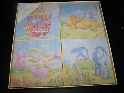 Nursery Decor~Canvas Wall Pictures~Noahs Ark Themed~Brand New In Box