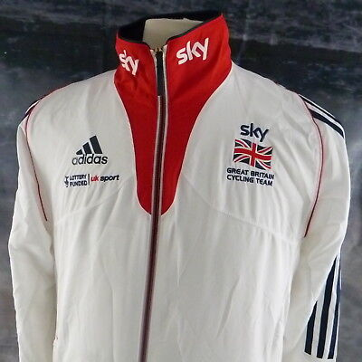 "adidas Sky Great Britain Cycling Team Jacket. 19"" pit-to-pit, 27"" length, Small"