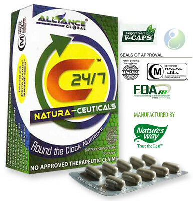 1 BOX C24/7 Natura-Ceuticals Food Supplement Natures Way, 22,000 Phytonutrients