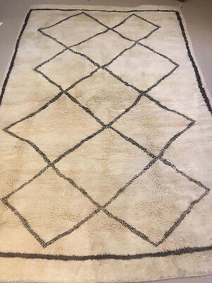 Moroccan Beni Ourain Berber Carpet Highest Quality 1.85M X 2.95M