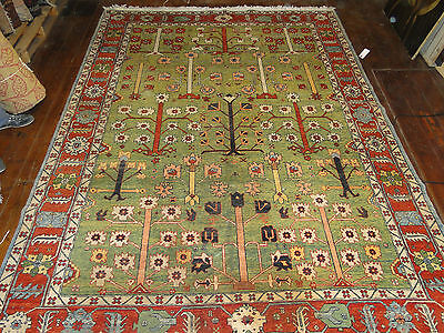 North West Persian Green Ground Carpet Oriental Rug