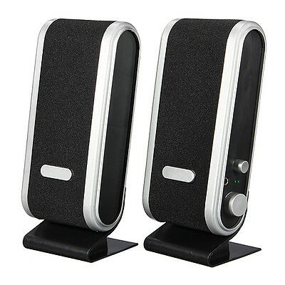 USB Power Wired Computer Speakers Stereo 3.5mm Jack for Desktop PC Laptop [NEW]