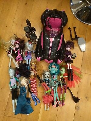 Monster High Dolls and Car.