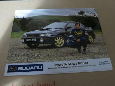 Subaru Impreza - Series Mcrae - Special Rare Edition - Press Media Photograph