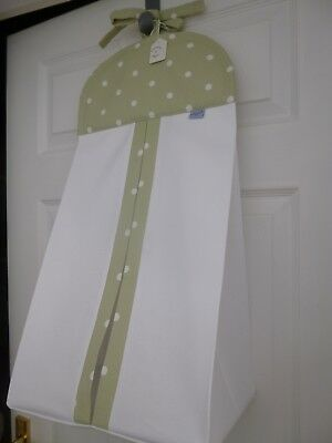 Baby Nursery Nappy Stacker-Sage Dotty-100% Cotton - Baby Shower Gift -BNWT