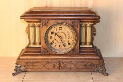 Antique Seth Thomas 8 Day Mantle Clock ~ Running ~ C. A. Late 1800's