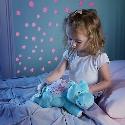Children Toy Infant Nursery Projector Night Light Music Soft Hippo Kids Bedroom
