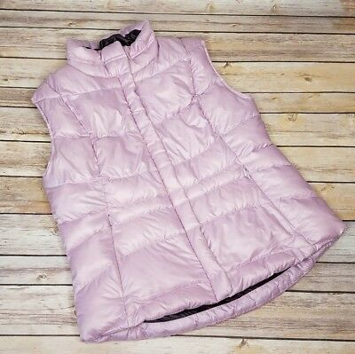 Women's Eddie Bauer Premium Quality Goose Down Quilted Vest Lilac Size Xs
