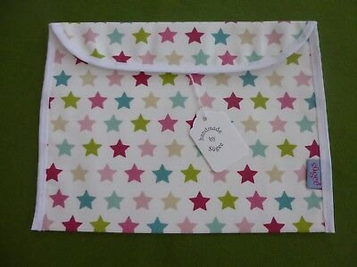 Baby Health Red Record Book Holder 'STARS' Cotton Fabric - Shower Gift-BNWT
