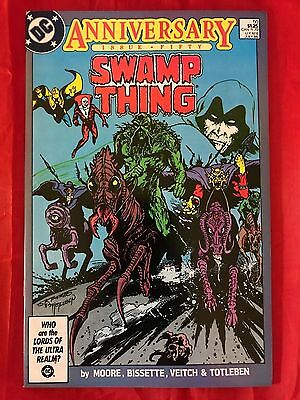 Swamp Thing #50 1st Justice League Dark Signed by Bissette & Totleben 1986 DC VF