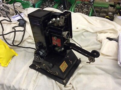 Vintage Pathescope H 9.5mm projector with box display piece
