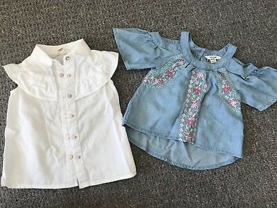 Used Baby Girl River Island Tops - 2 Tops (0-3 Months)