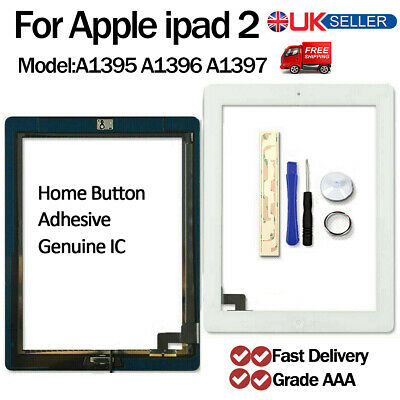 For Apple iPad 2 Screen Digitizer Touch Replacement A1395 A1396 A1397 White New