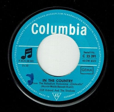 CLIFF RICHARD & THE SHADOWS * In The Country * COLUMBIA * Rock'n'Roll 45